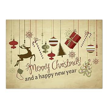 15 x Weihnachtskarten (Weihnachtliche Anhänger, Merry Christmas) 15 ...