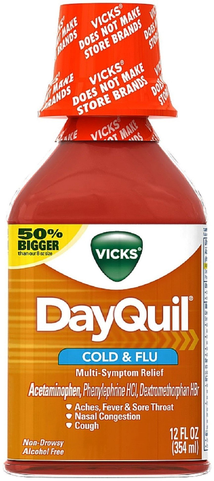 Vicks Dayquil Cold & Flu Multi-Symptom Relief Liquid 12 oz (Pack of 10)