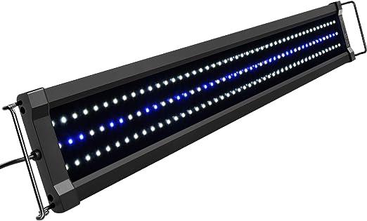 Amazon.com: NICREW ClassicLED Gen 2 - Lámpara para acuario, luz LED regulable para tanque de peces con control de 2 canales, LED blanco y azul, alta potencia de salida: Mascotas