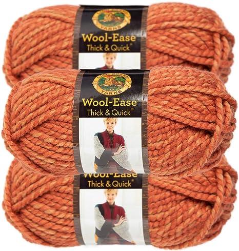 3 Color voluminosos Tejer Crochet hilado de lana grueso