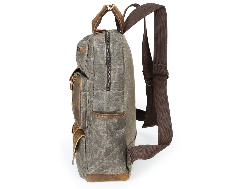 Color : Bronze, Size : L XINXI-MAO Cozy Mens Shoulder Bag Oil Wax Canvas Bag Travel Retro Canvas Bag Large Outdoor Mens Bag Backpack