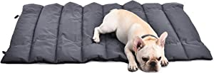 Petspective Pet Mat – Portable Cats and Dogs Travel Mat – Thick, Soft, and Comfortable Pet Sleeping Pad - Waterproof and Easy to Clean - Couch Crate Car Seat Outdoor Large Dog Bed Mat - 40'' x 27''