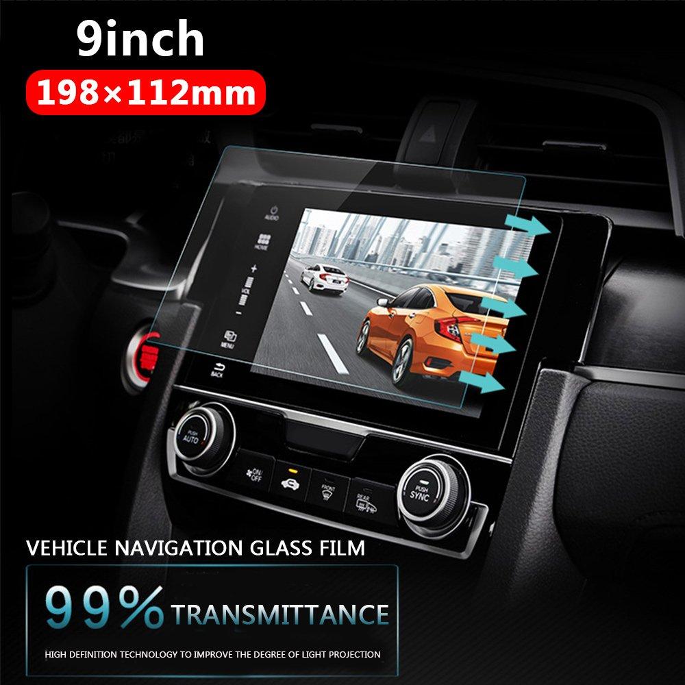 Sedeta/® 9inch Car navigation HD tempered glass film n-Dash Screen Protector Protective Films Anti Scratch High Clarity