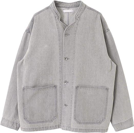 [センスオブプレイス] ジャケット コート デニムノーカラーカバーオール メンズ AA14-17B007