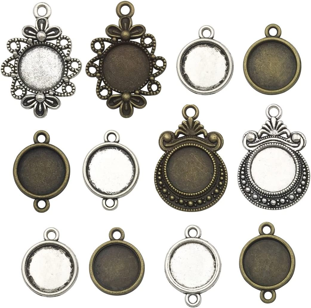 Antique Bronze Plated Brass G6514 10mm,12mm,14mm blank Antique Bronze Ring Blank Base Bezel Settings Cabochon Base Mountings Adjustable