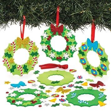 Manualidades Navidad Guirnaldas.Baker Ross Kits De Guirnaldas Navidenas Decorativas Paquete