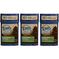 Tom's of Maine 24-Hour Men's Long Lasting Natural Deodorant Multi Pack, North Woods, 3 Count