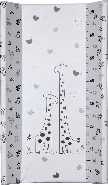 IB-Style - Plan à langer à fixer - avec Planche rigide - 11 décors différents - Matelas à langes 80 x 47 x 10 cm - Matelas Commode Bébé Meuble | Modèle Baby Elephant