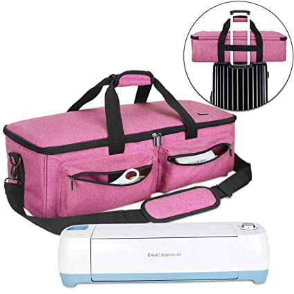 0127dd89e31d Luxja Carrying Bag Compatible with Cricut Explore Air and Maker, Tote Bag  Compatible with Cricut Explore Air and Supplies (Bag Only), Pink