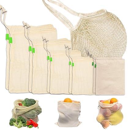 Bolsas para verduras, juego de 11 bolsas de algodón ...