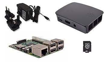 Raspberry Pi 3 Official Desktop Starter Kit (8GB, Black
