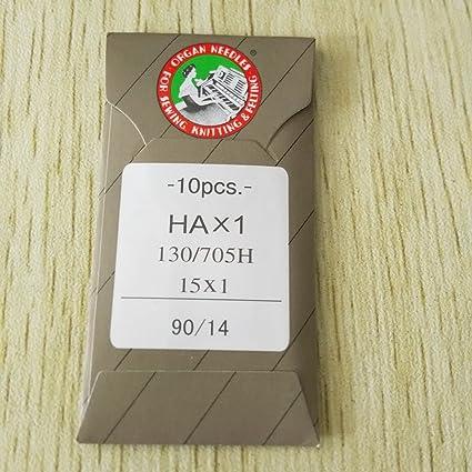 Honeysew - 10 agujas de punta plana organ 15x 1HAX1130