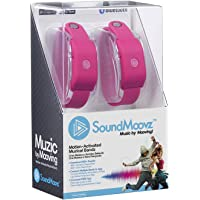 Soundmoovz 41242 Muzic By Mooving Set med 2 armband för ljud och musik, rosa