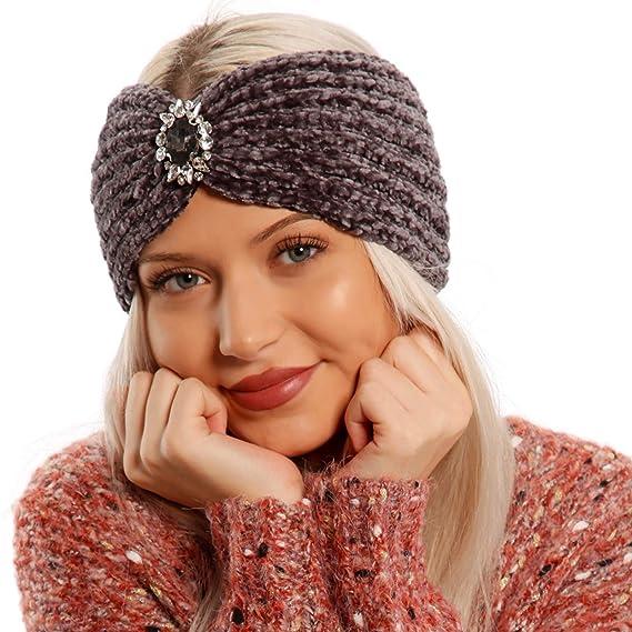 Stirnband Haarband fein Strass Schwarz elastisch  Schleife
