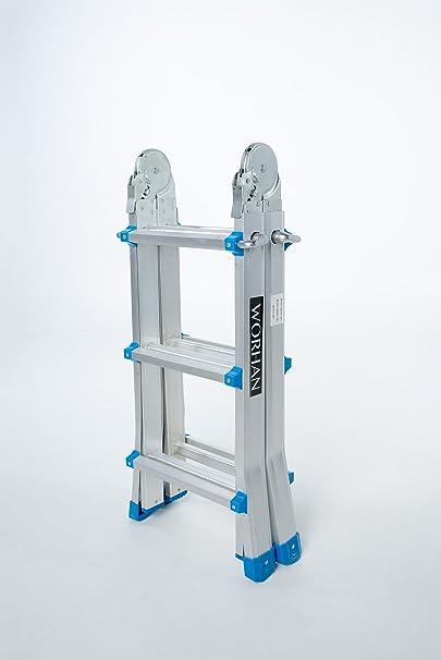 WORHAN® Escalera 302cm Aluminio Telescopica 3.02m Multifuncion ...