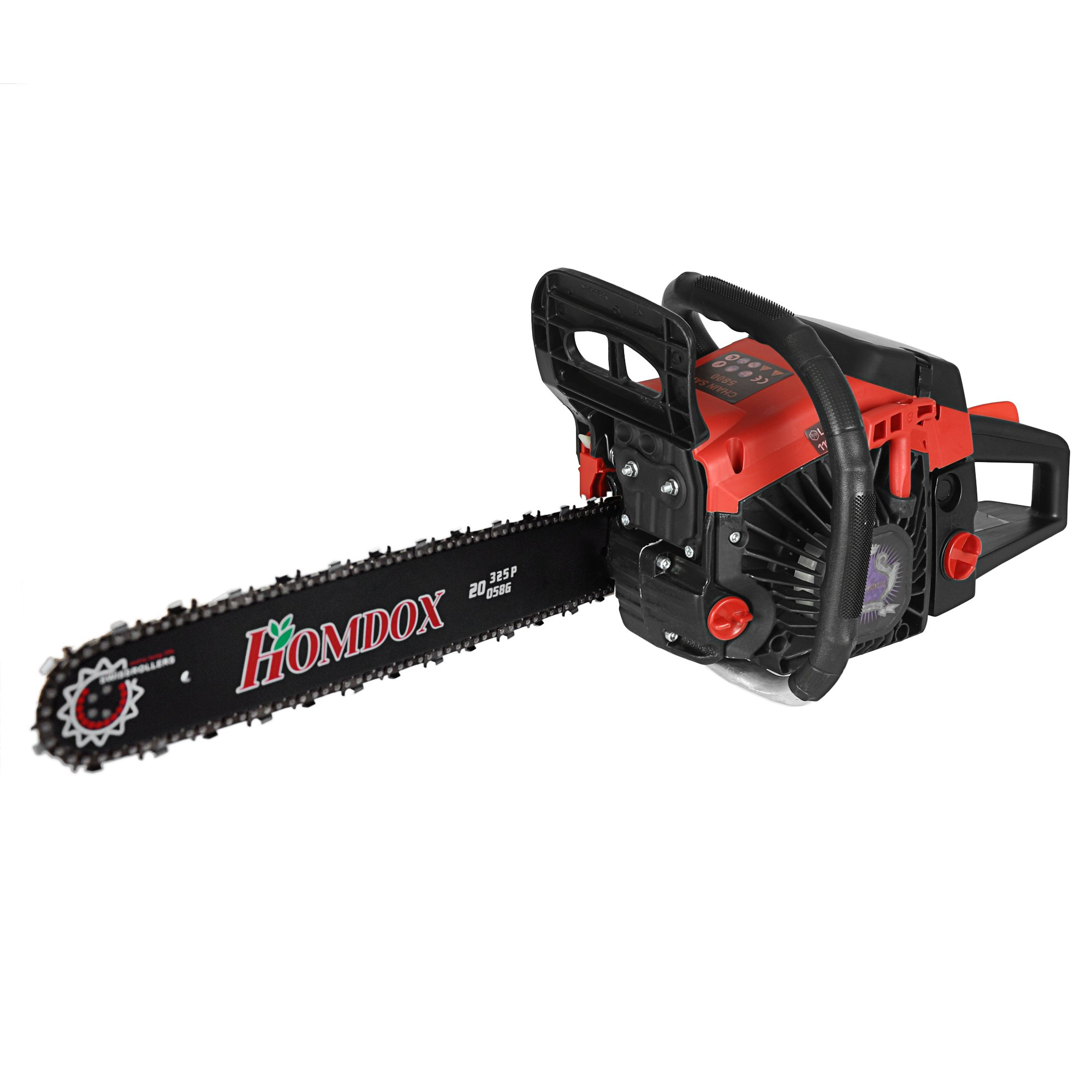 """Homdox 58cc 2 Strokes 20"""" Gas Powered Chainsaw with 2 Chains, Tool Bag"""