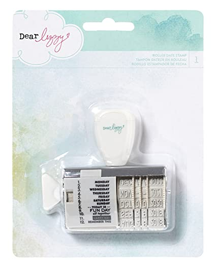 Amazon American Crafts Roller Date Decorative Stamp Dear Lizzy