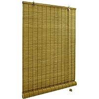 Victoria M. Klemmfix rolgordijn bamboe 60 x 160 cm in bruin, bescherming tegen inkijk rolgordijn zonder boren voor ramen…
