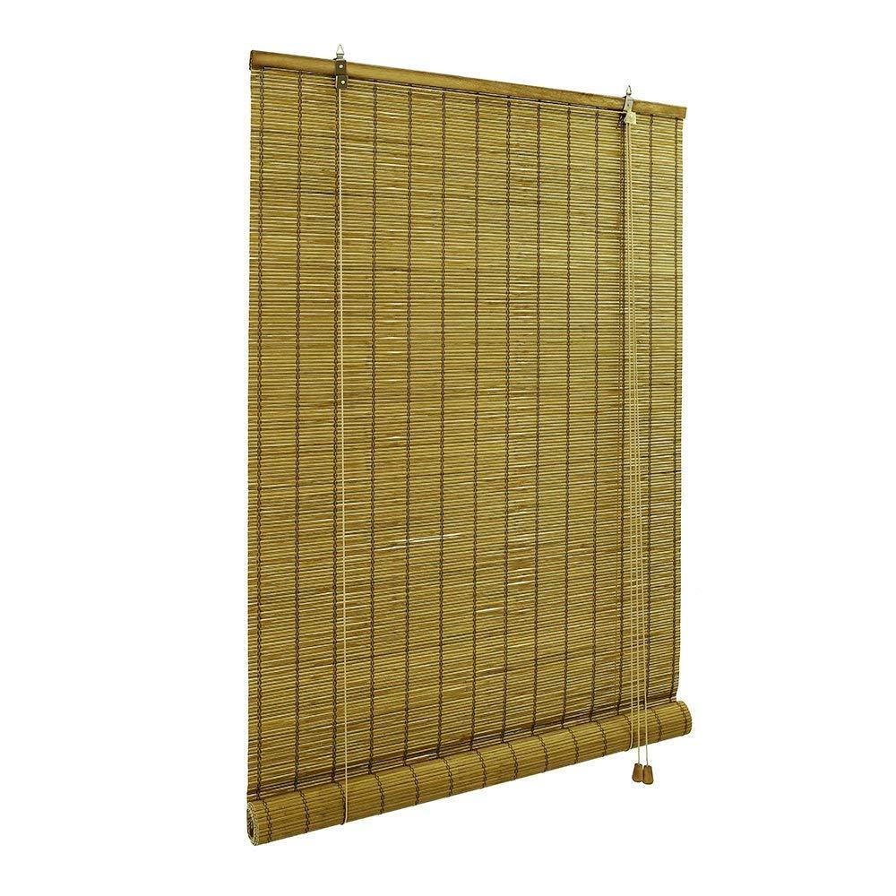 sans pr/é-per/çage VICTORIM M Store en Bambou pour lint/érieur Store Bambou en 120 x 160 cm Marron