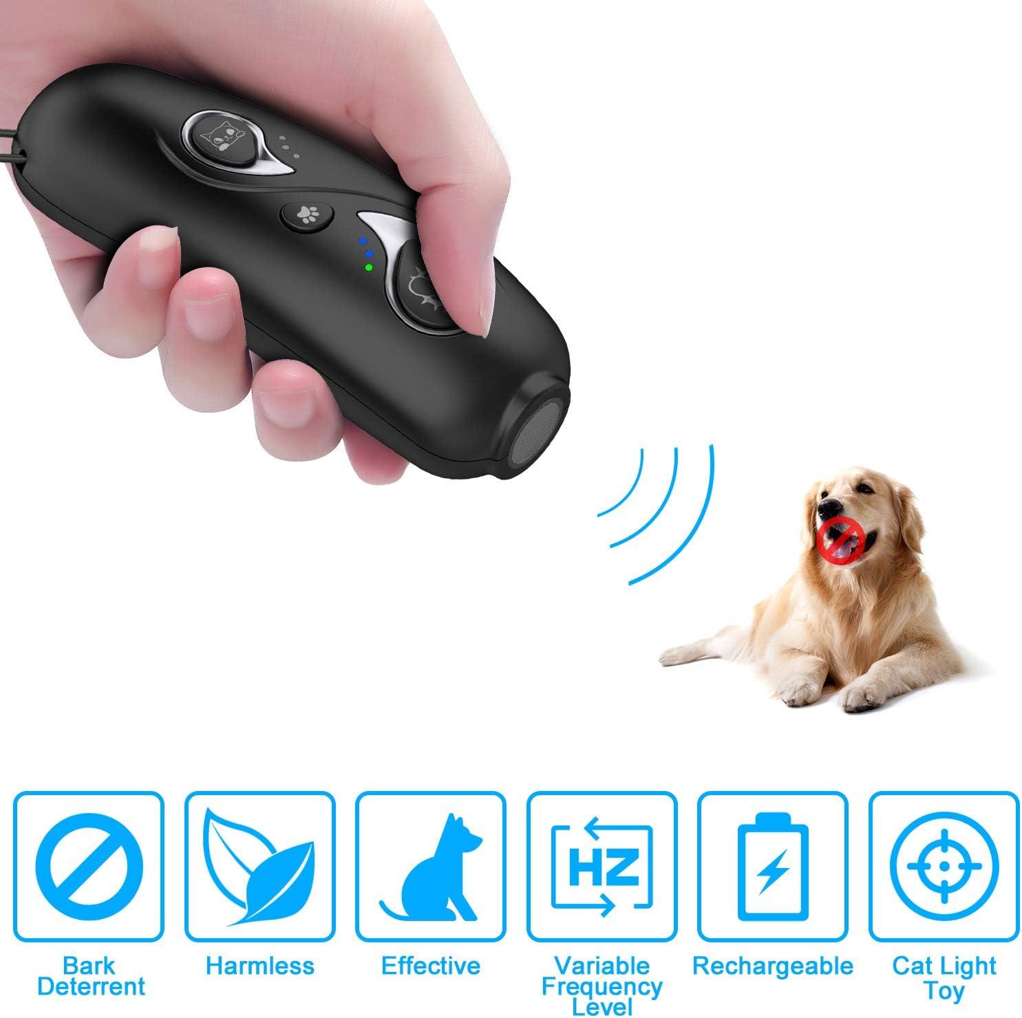 Ahuyentador de Perros,Ahuyentador Perros,Antiladridos con Modo de Doble frecuencia