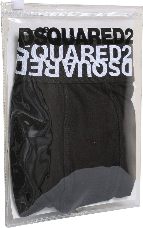DSquared2 Mirror Logo Waistband Mens Boxer Trunk Black