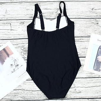 REALDE Mujer Color Sólido Una Pieza Traje de Baño Alta Cintura Push Up Bañadores Bikinis Swimwear Ropa De Baño de Las Mujeres de Ropa de Playa Tallas Grandes Trikini Bikini Brasileño: Amazon.es: