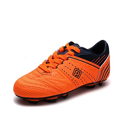 f4455f7234f DREAM PAIRS Little Kid 160859-K Orange Navy Soccer Football Cleats Shoes -  1 M