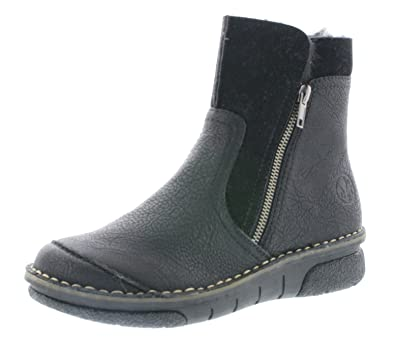 203e205c6f Rieker Women Ankle Boots Black, (SCHWA/SCHW) 73381-00: Amazon.co.uk ...
