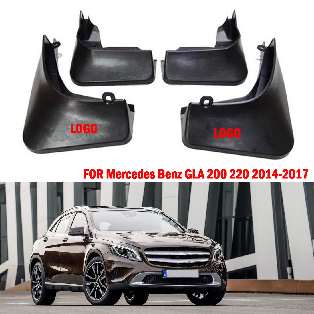 Guardabarros para Guardabarros de Coche con Solapas para Guardabarros para GLA 200 220 X156 2014-2017: Amazon.es: Coche y moto