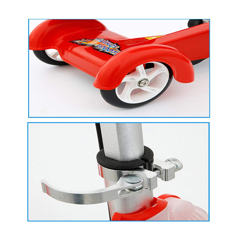 Scooter para Niños Triciclo Scooter Doble Cinta De Correr Música ...