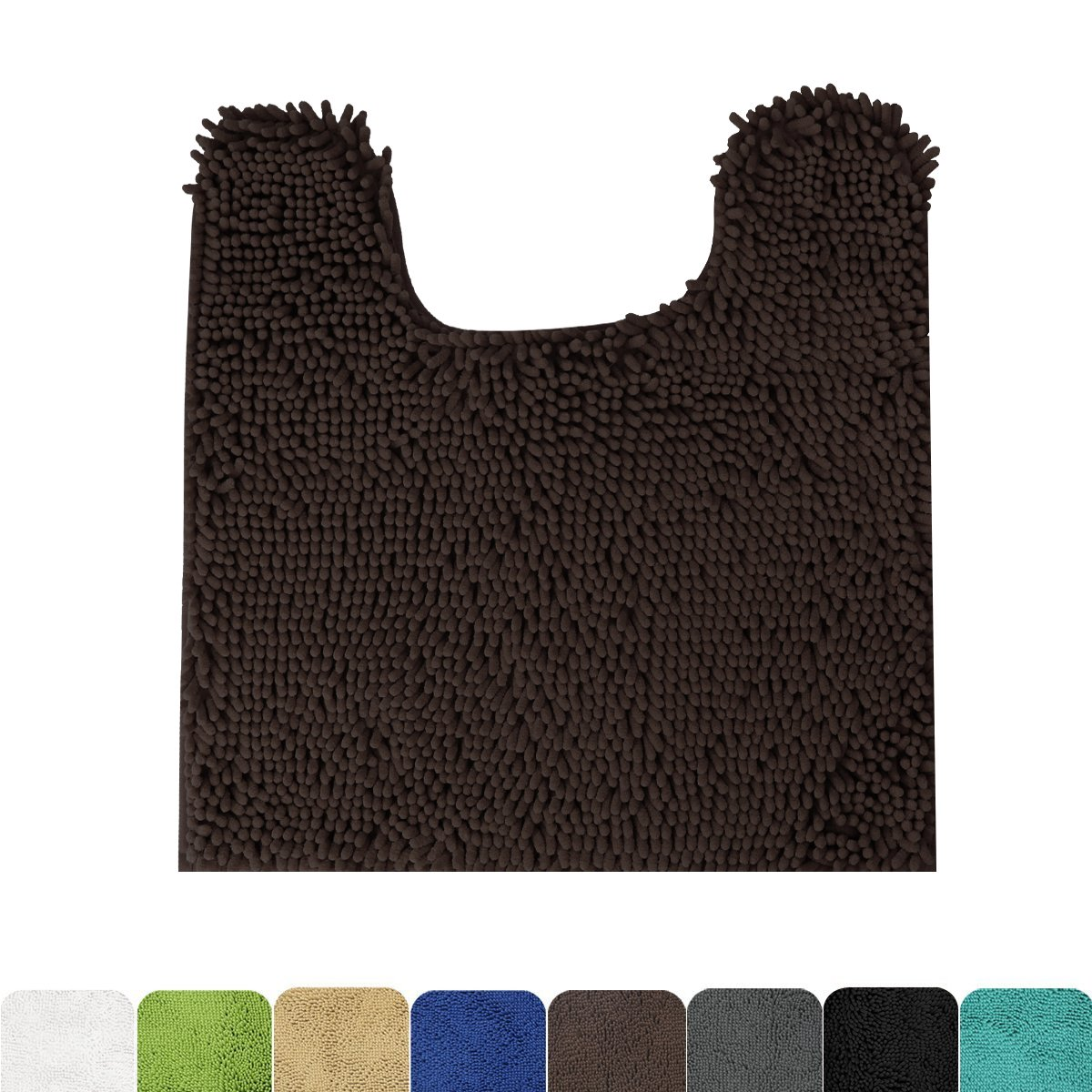 MAYSHINE Contour Bath Mats for toilet | nonslip | Soft | Absorbent water | Dry Fast | Machine-washable (20''x24'' Brown) by MAYSHINE