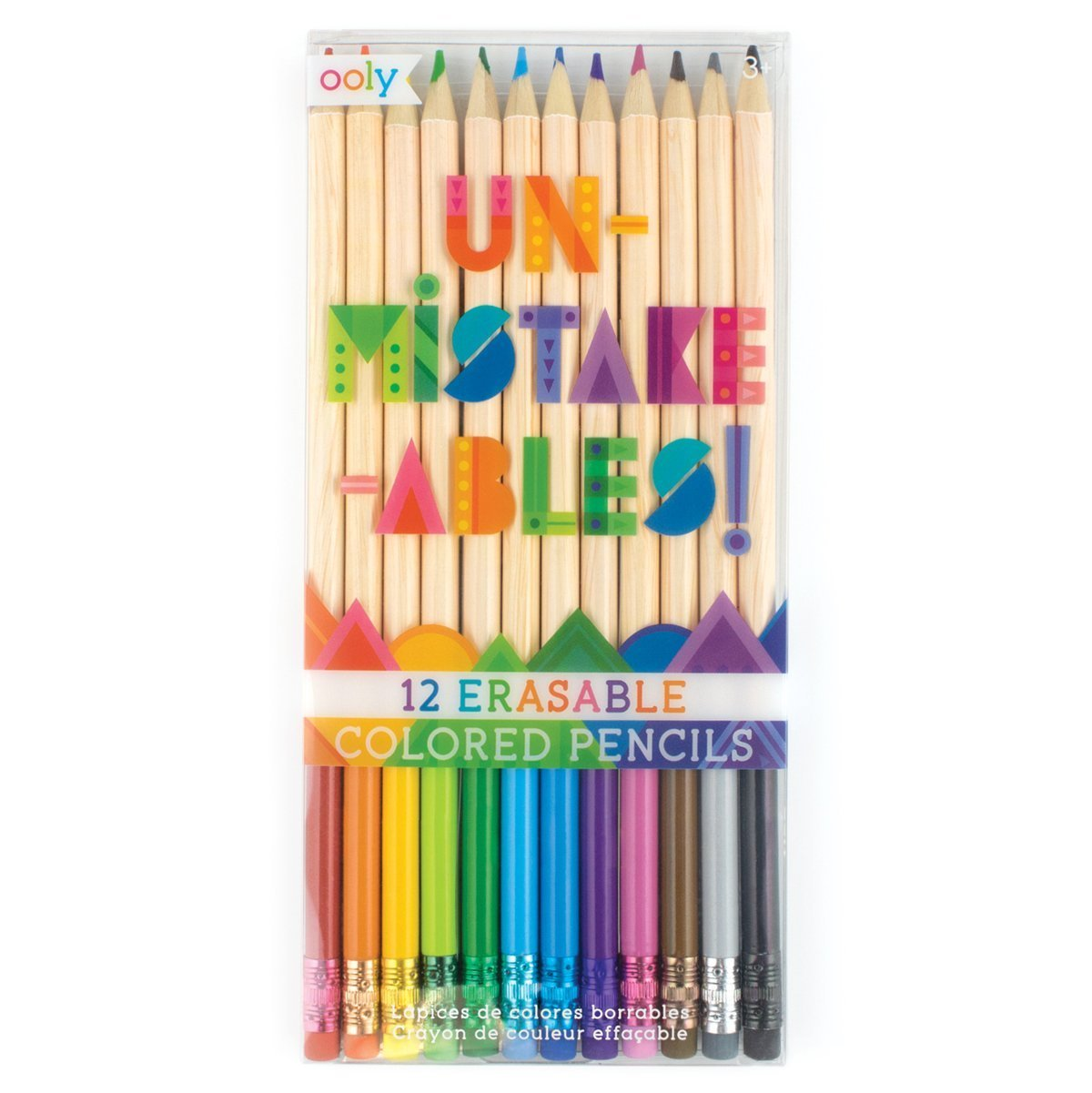 Set of 12 Ooly UnMistakeAbles Erasable Colored Pencils
