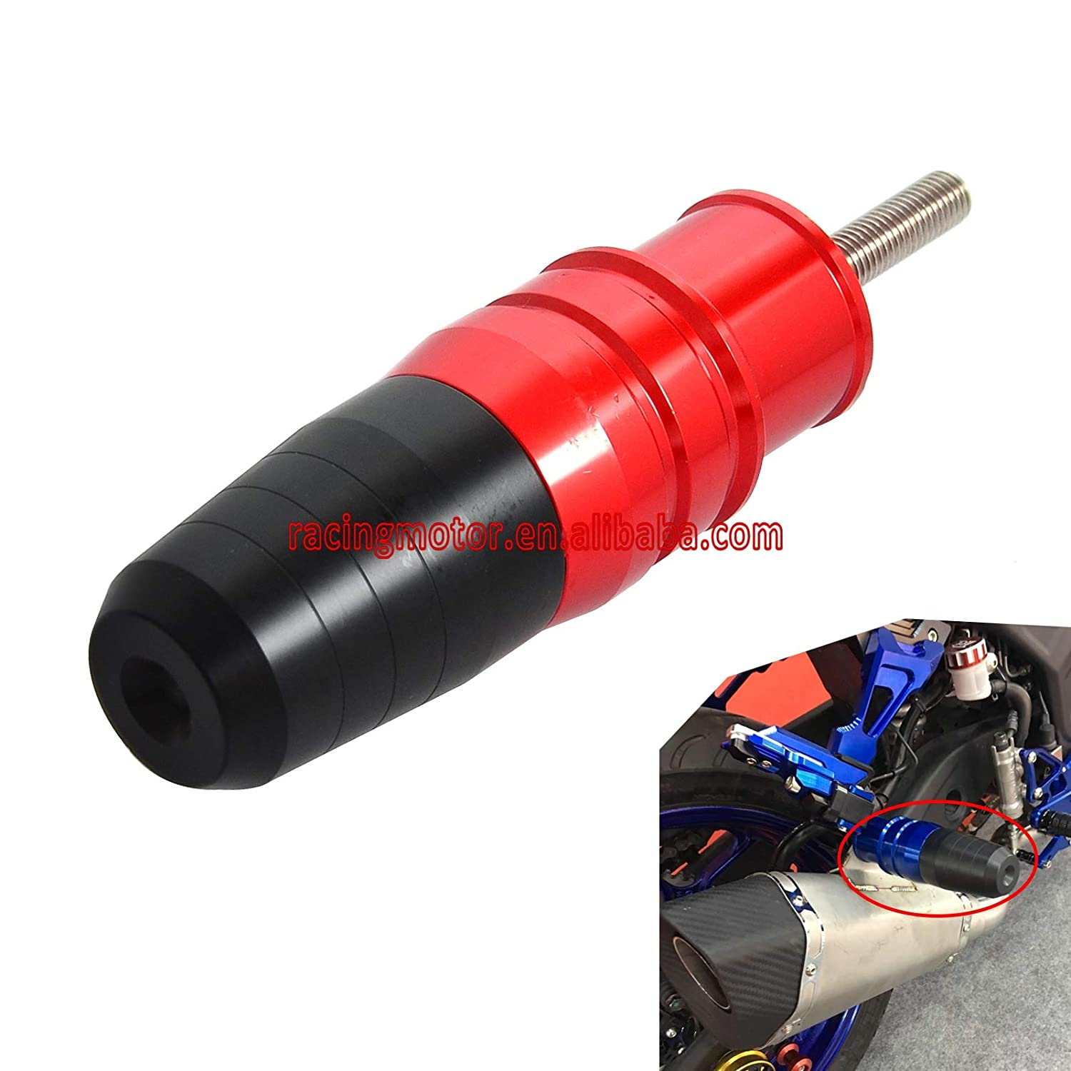 Automobiles /& Motorcycles Exhaust Slider Crash Pad Protector for Yamaha YZF-R3 Mt03 2015 2016 Yzfr3 Mt-03 Also Fit Honda Cb1100 2010-2016 Cb1100Ex 13-15