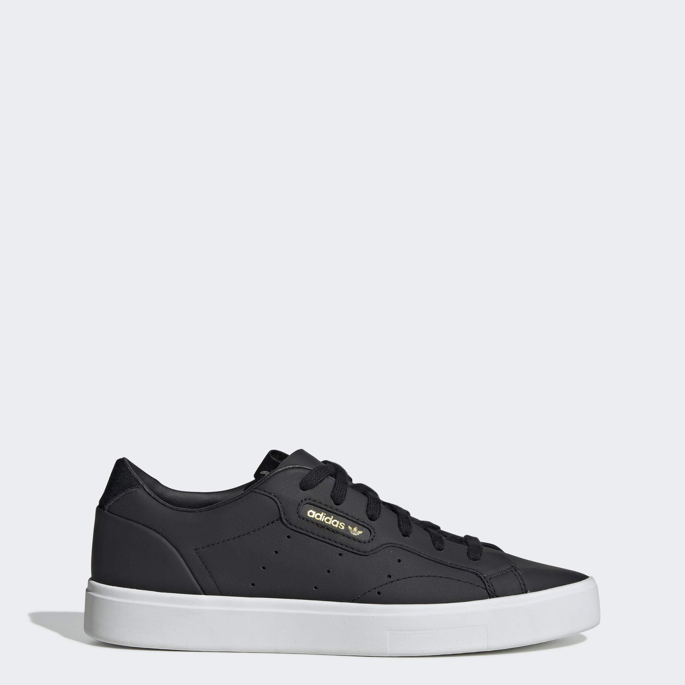 adidas Originals Women's Sleek Sneaker Black/Crystal White, 5.5 M US