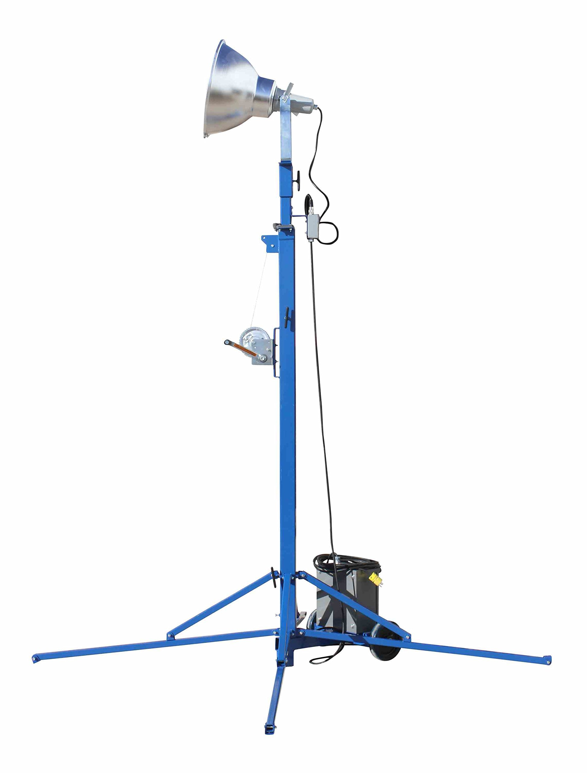 Portable Light Tower - 1000 Watt Metal Halide - Covers 23,000 SF - Extends to 12 feet(-240 Volts) by Larson Electronics (Image #4)