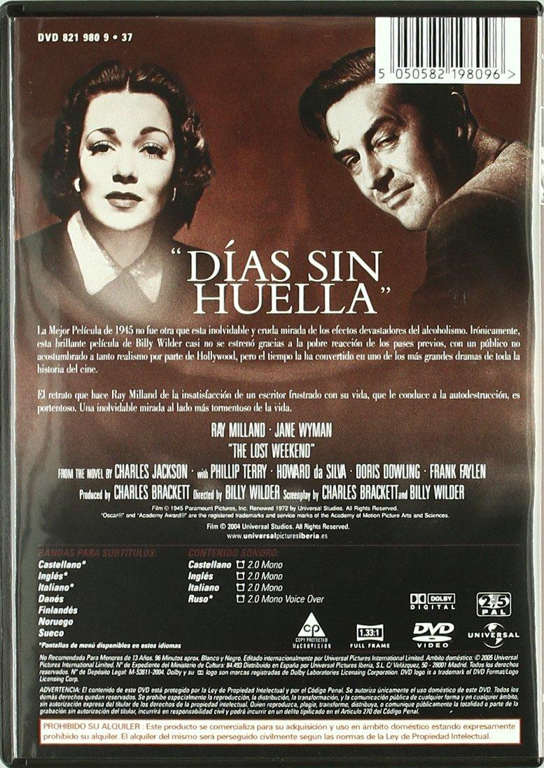 Dias Sin Huella [DVD]: Amazon.es: Jane Wyman, Ray Milland, Billy ...