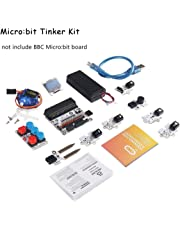 MakerHawk Micro:bit Tinker Kit without Micro:bit Board, Include Micro:bit Breakout Board, Octopus ADKeypad, OCTOPUS PIR Sensor Module without Group of Messy Breadboard Wires, Used for Classroom Teaching and DIY Beginners