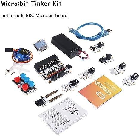 Micro MakerHawk Micro Bit Tinker Kit Include Micro Bit Board Bit Breakout Board Octopus PIR Sensor Module utilizzato per linsegnamento in Classe e per Principianti Fai da Te