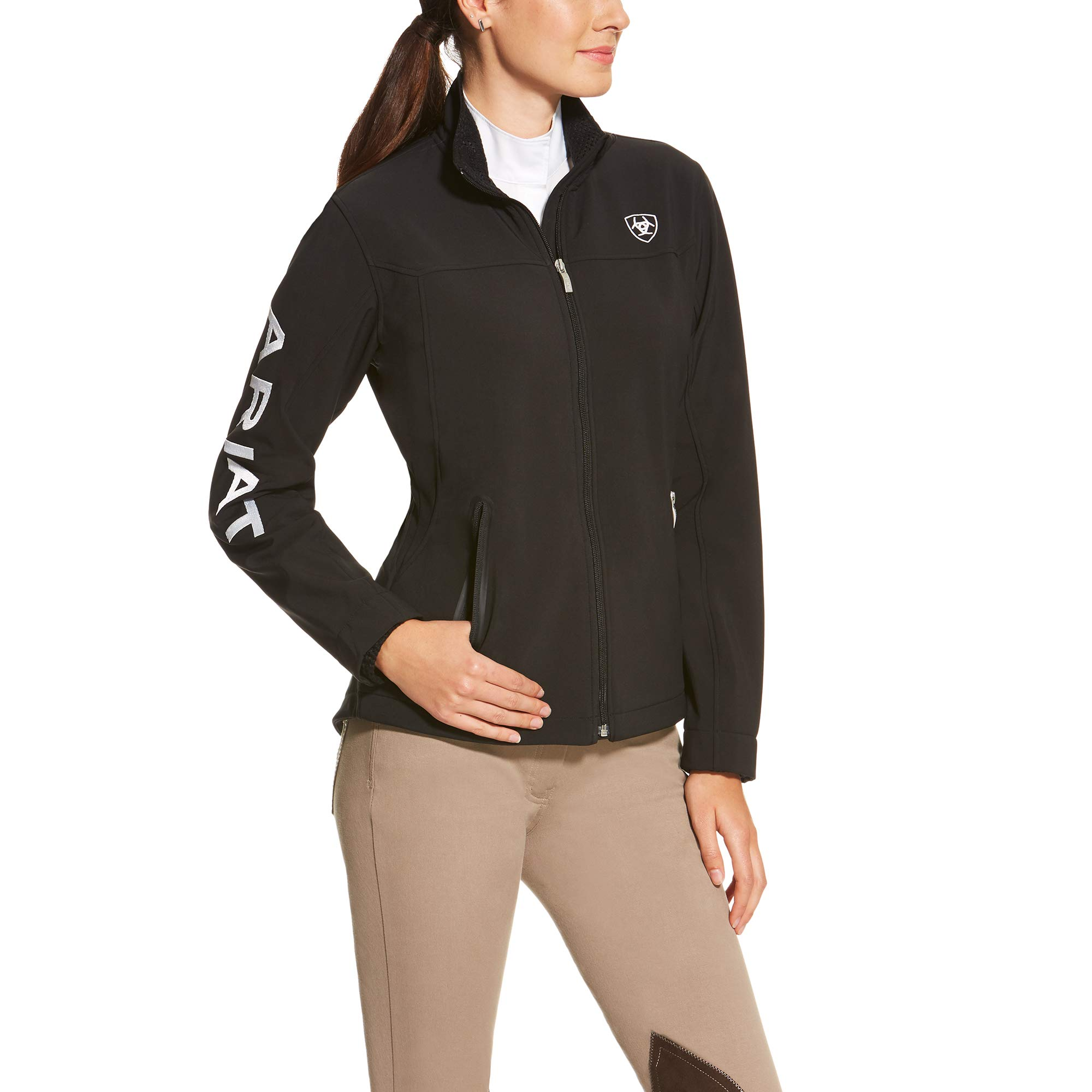 Ariat Women's New Team Softshell Jacket, Black, Large by ARIAT