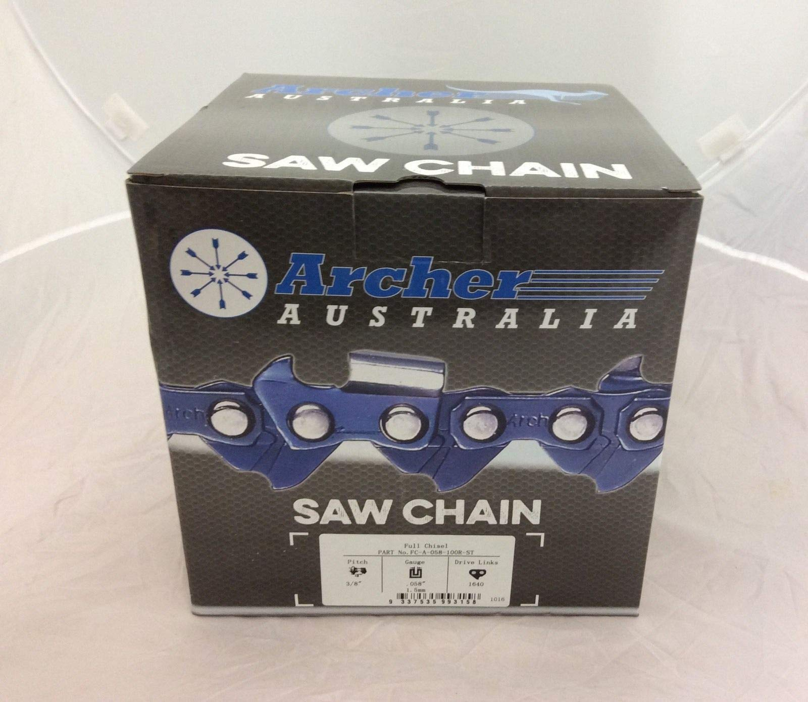 Archer Chainsaw Chain 100ft Roll 3/8 .058 Chisel Skip Tooth Chain