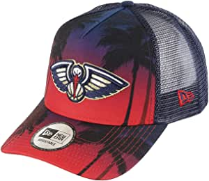 New Era Orleans Pelicans Frame Adjustable Trucker Cap NBA Palm ...