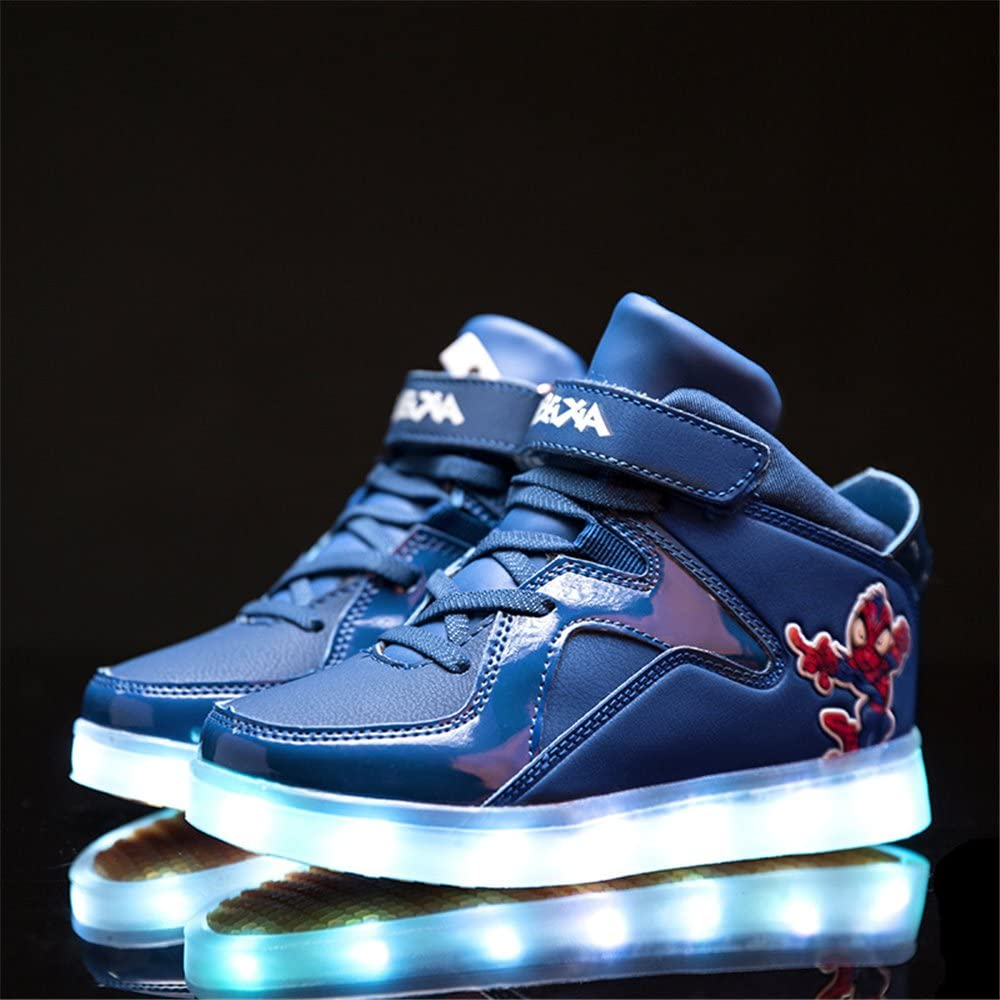 A2kmsmss5a New Led Shoes High Top USB Charging for Boy/&Girls Light Up Flashing Shoes Toddler//Little Kid//Big Kid