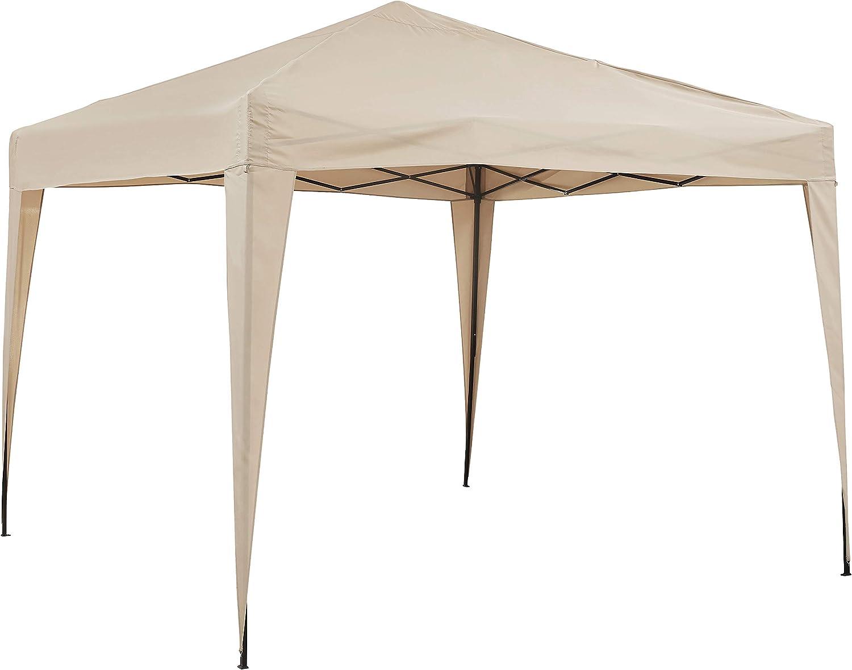 Crosley Furniture Hampton Collapsible Outdoor Gazebo, 10' x 10' - Tan