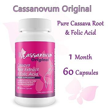 Cassava Root Supplement & Folic Acid, Fertility Supplement for Twins and  Healthy Pregnancy (Cassava