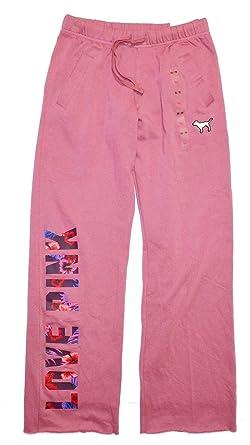 b7fe8696460cc VS Pink Victorias Secret Pink Boyfriend Pant Sweatpant Tropical Flower Logo