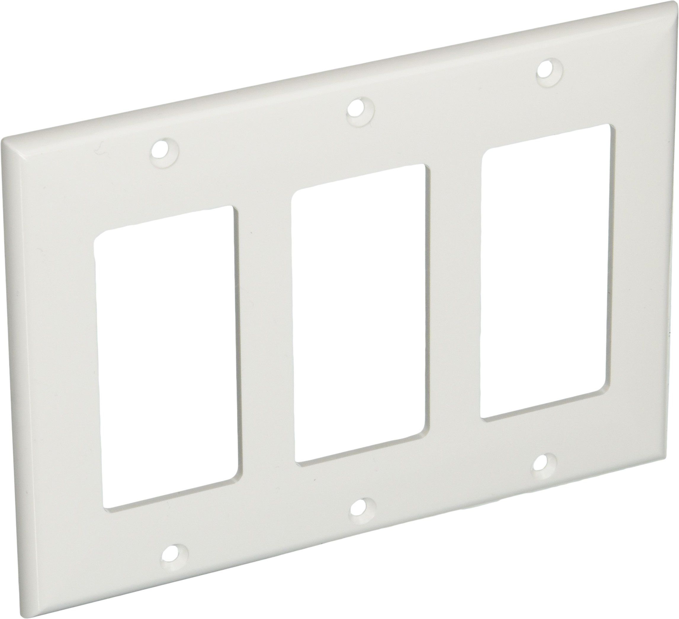 Morris 81131 Lexan Wall Plate, Decorative/GFCI, 3 Gang, White