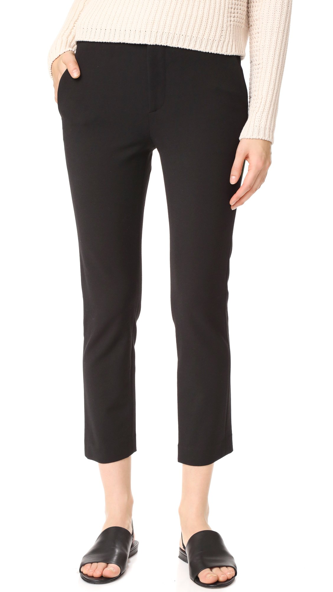 Vince Women's Stove Pipe Trousers, Black, 8