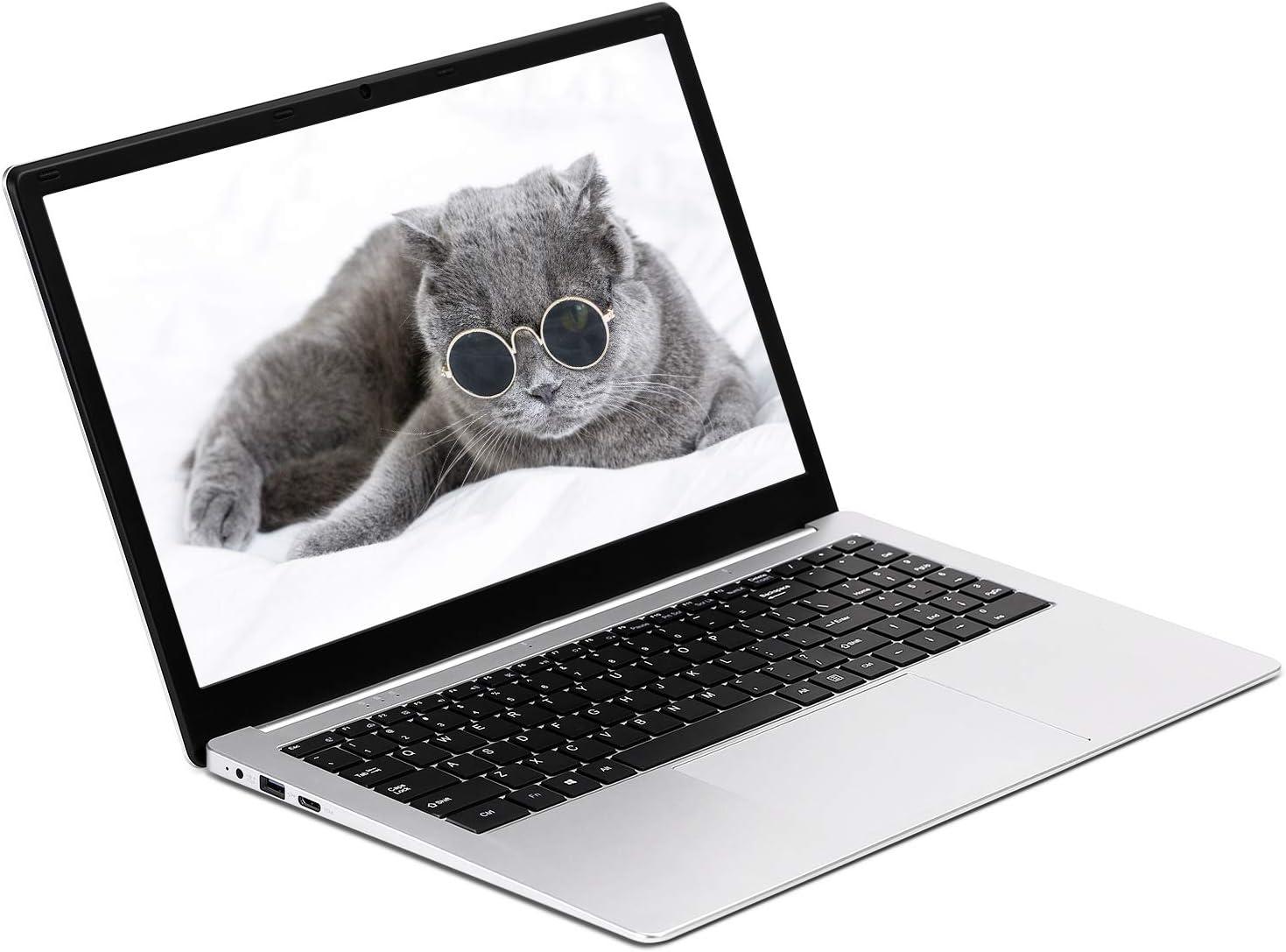 Laptop 15.6 inch, 1920x1080 high-Definition Display, Intel j3455/J4115 CPU. 8G RAM,256G SSD,Windows 10(Silvery)