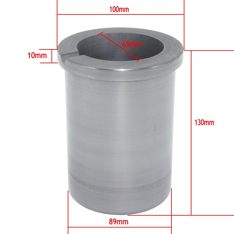 Eforlife Pure Graphite Crucible Metal Melting Gold Silver Aluminum Scrap Casting Ingot Mould (5KG - Fit a Coke Can) by Eforlife (Image #3)