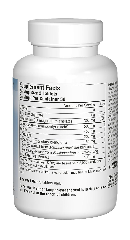 Source Naturals - Theanine sereno con Relora - 60 tabletas contiene corteza de la Magnolia: Amazon.es: Salud y cuidado personal